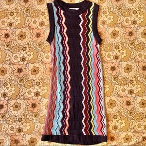 Missoni Chevron Striped Retro Maxi Dress